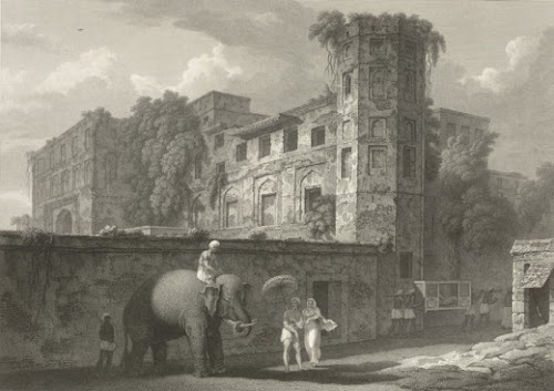 Now ruined Boro Kutra by D'oyly in 1823