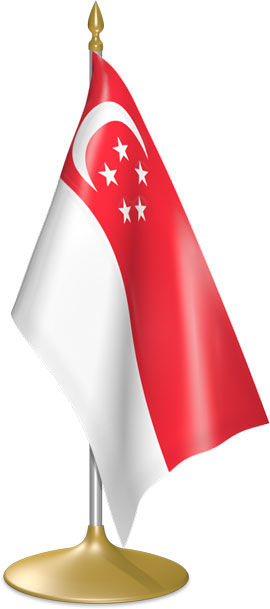 Singaporean table flags - desk flags