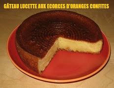 Gâteau Lucette aux écorces d'oranges confites
