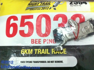 My Bid Number, Energizer Night Trail 2012 Singapore