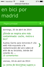 ¿Sigues en bici por madrid desde tu móvil?