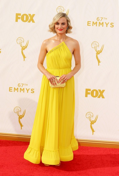 Taylor Schilling attends the 67th Annual Primetime Emmy Awards