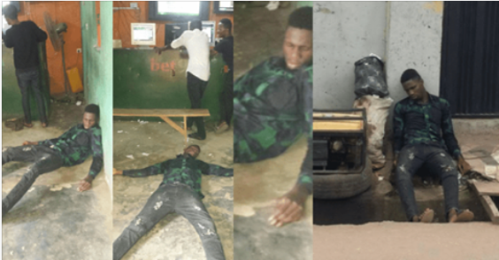 Nigerian Man Faints After Borrowing Money From Lapo And Using It To Play Bet9ja But Lost All The Money (Photos)