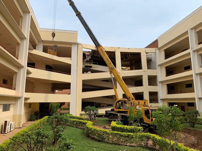 UniSalesiano começa reforma de estrutura danificada pelo temporal