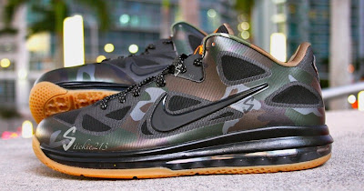 nike lebron 9 low pe camouflage 1 02 Nike LeBron 9 Low War Vet Camo PE   Pics & Video