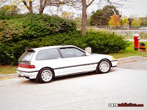 Old School White Honda Civic