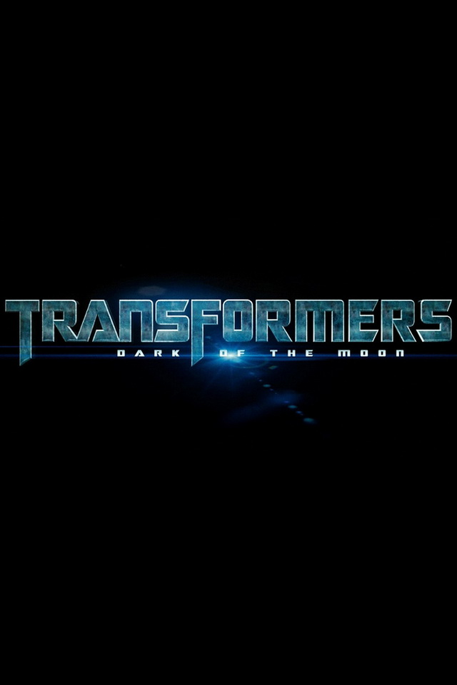 Transformers Dark of The Moon Logo Movie Poster Wallpaper For iPhone4