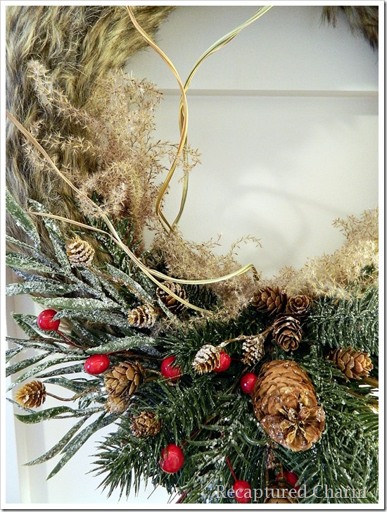 faux fur antler wreath 20