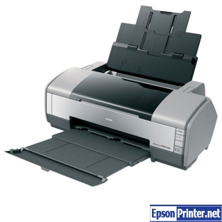 How to reset Epson 1390 printer