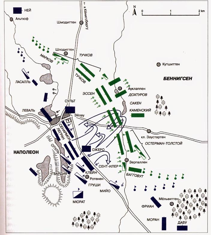 Начало битвы при Эйлау