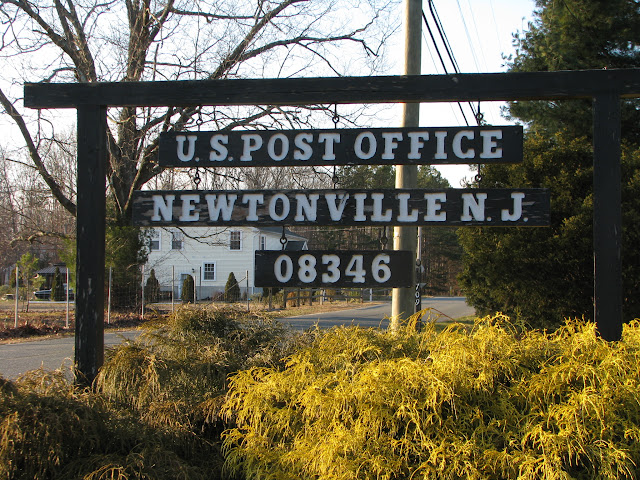 Newtonville, NJ post office sign