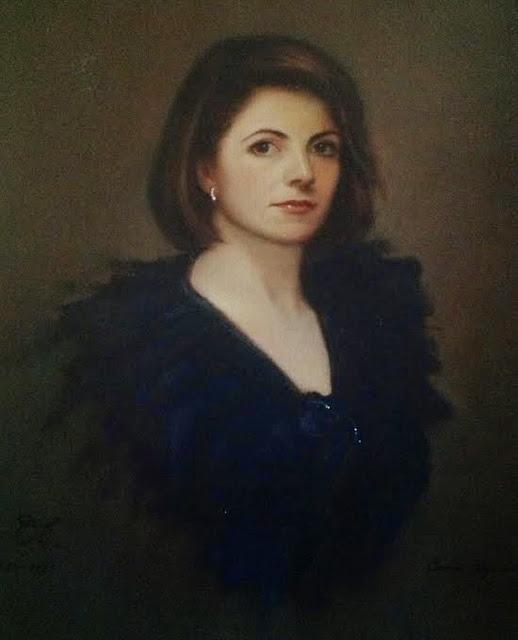 Autorretrato,pintura de Carmen Alquezar Valero