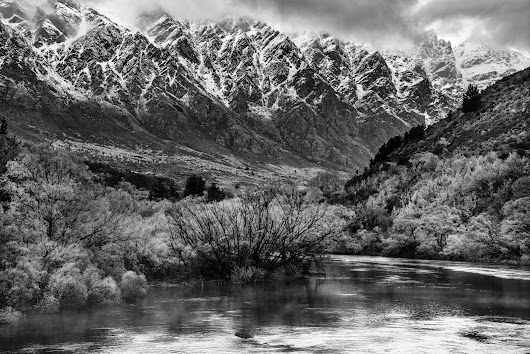 Snow Capped Remarkables The second day after I arrived in New Zealand it rai...