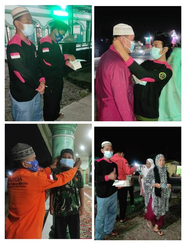 Upaya Putus Mata Rantai Penyebaran Covid-19, Gegana Lakukan Patroli Kesehatan Jamaah Masjid
