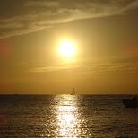 sunset at CABAN Tomorrowland at Hayama beach near Tokyo in Hayama, Kanagawa, Japan