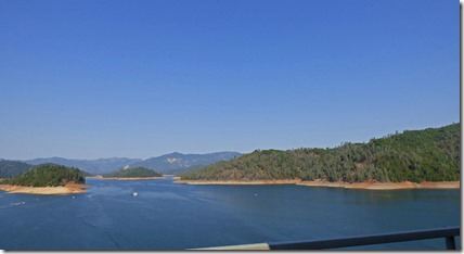Shasta Lake along I-5