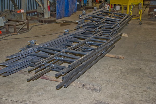 Carbon Steel Pipe Handrail Fabrication