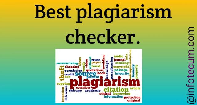 best plagiarism checker 2021