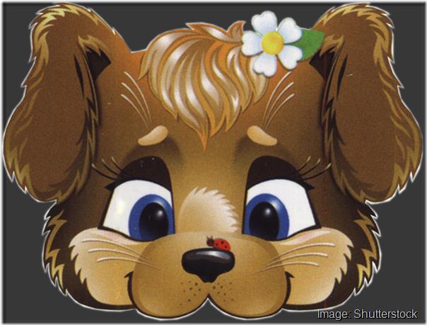 kids-face-masks-template-animals-brown-dog