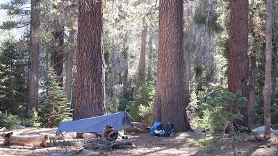 We camped under towering pines.©http://backpackthesierra.com