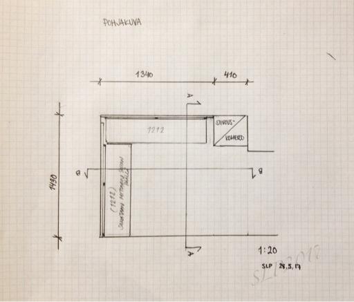 pohja suunnitelma mitat