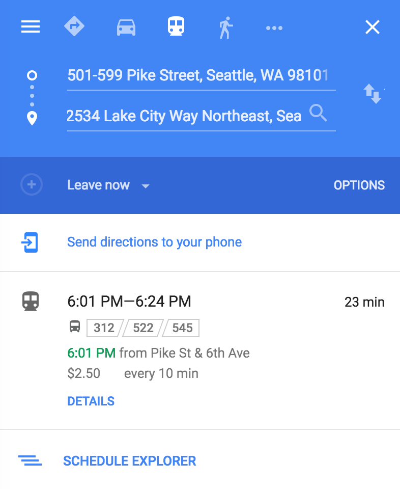 Bus Schedule In Seattle Includes The Wrong Bus 545