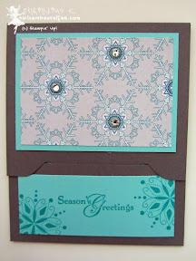 stampin up, envelope punch board, gift card, gutschein verpackung, snow swirled, eiszeit