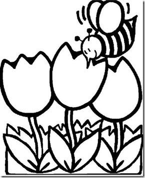 11flores primavera colorear  (38)