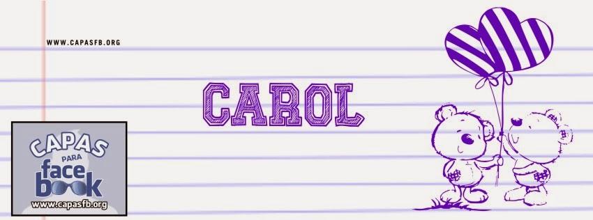 Capas para Facebook Carol