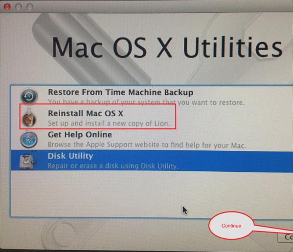 Reinstall OS X Lion