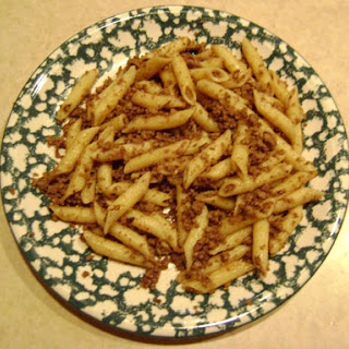 Easy Pasta With Ground Beef And Onions.