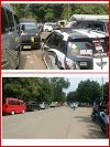 Pantai Kelapa Tujuh Ramai, Kendaraan Sulit Untuk Parkir.