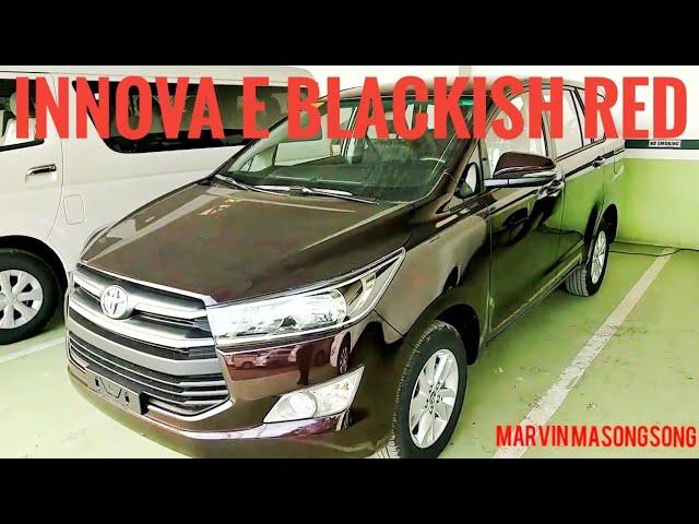 VIDEO: #ToyotaINNOVA E 2.8L #DieselENGINE | #BlackishRED (#Philippines)