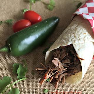 Crock Pot Shredded Beef Burritos