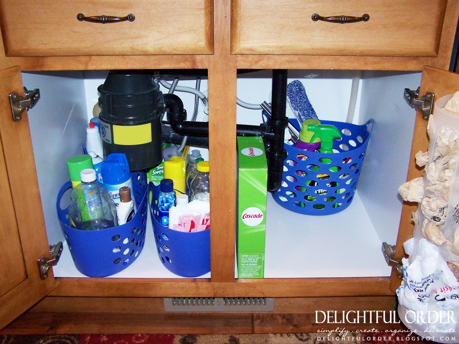organize under the kitchen sink delightful order organizing the kitchen sink 7218