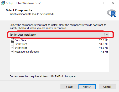 install R on windows 10