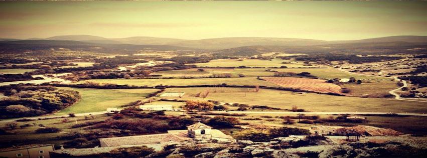 Tarla ve dağlar facebook kapak fotoğrafı