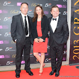WWW.ENTSIMAGES.COM - Andrew Barshall, Petrine Scanlon and Chris Hollins  at    The Grand Prix Ball Clic Sargent for Children with Cancer Evening at The Hurlingham Club, Ranelagh Gardens, June 27th    2013                                                Photo Mobis Photos/OIC 0203 174 1069