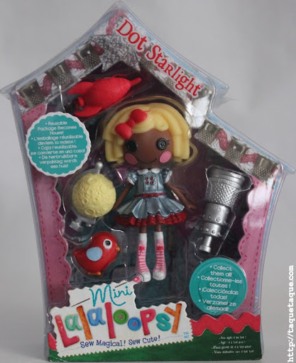 mini Lalaloopsy Dot Starlight en su caja