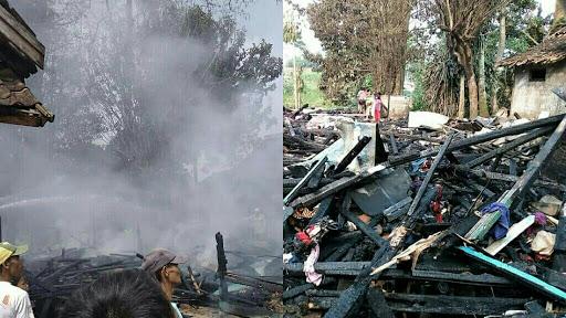 Kebakaran di Siang Bolong, 3 Rumah di Sukabumi Rata Dengan Tanah