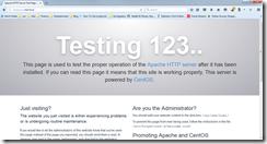 Apache Default Homepage
