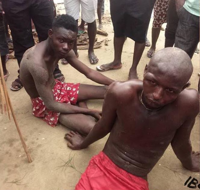 Suspected Dog Thieves Stripped and Beaten to Stupor in Bayelsa State (Photos)