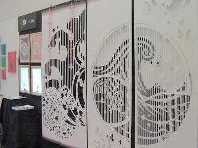 アートストリーム2012のブースNO.59、kon-garaの会場の出展風景。