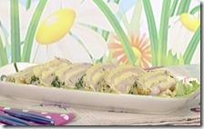 Rotolo croccante di prosciutto e formaggio