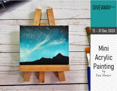 Mini Giveaway Acrylic Painting by Ema, Blogger Giveaway,