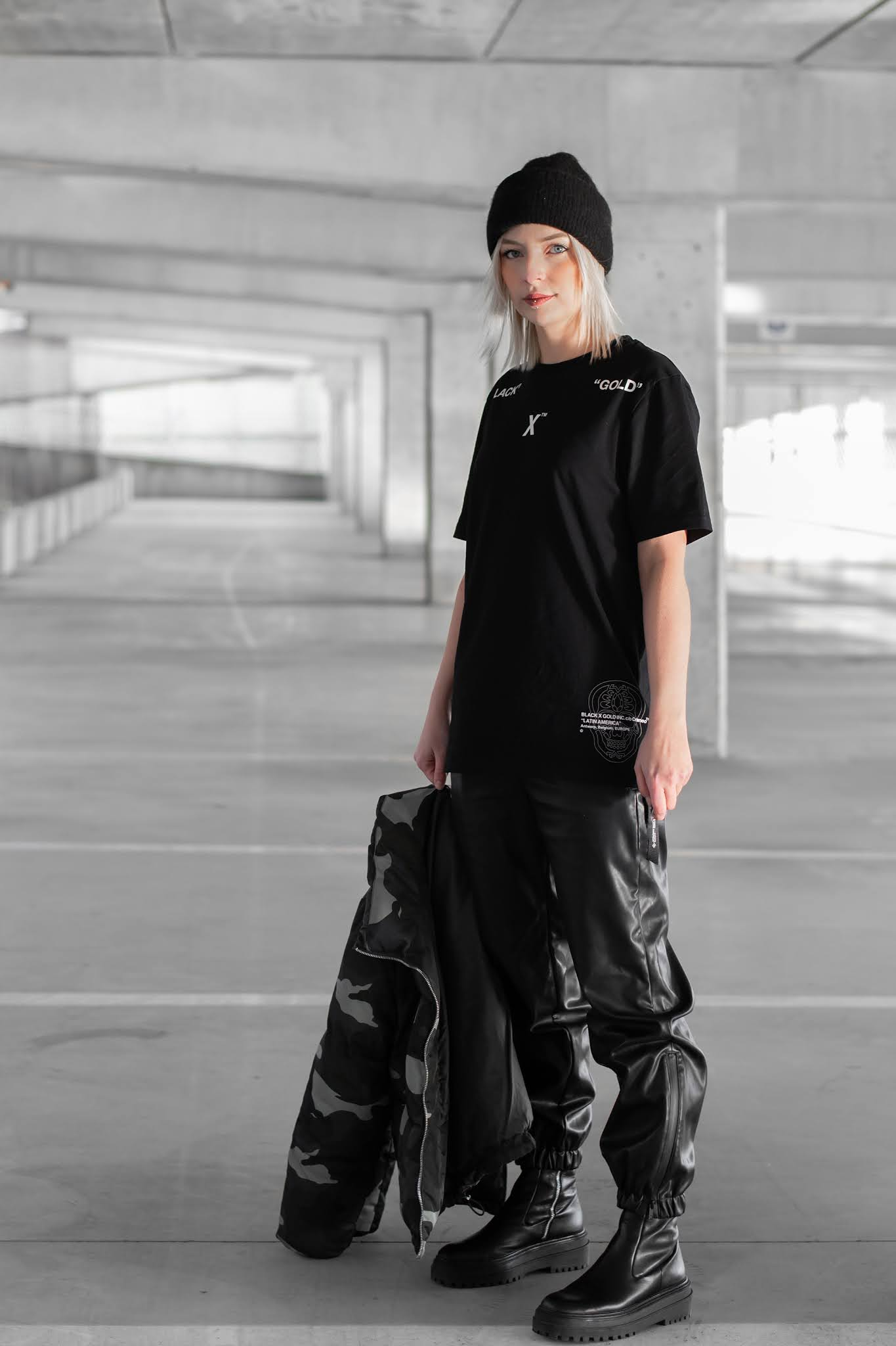 Black & gold, official, utility collection, street style, belgium, ik koop belgisch, belgian brand, streetwear, 2021, leather trousers