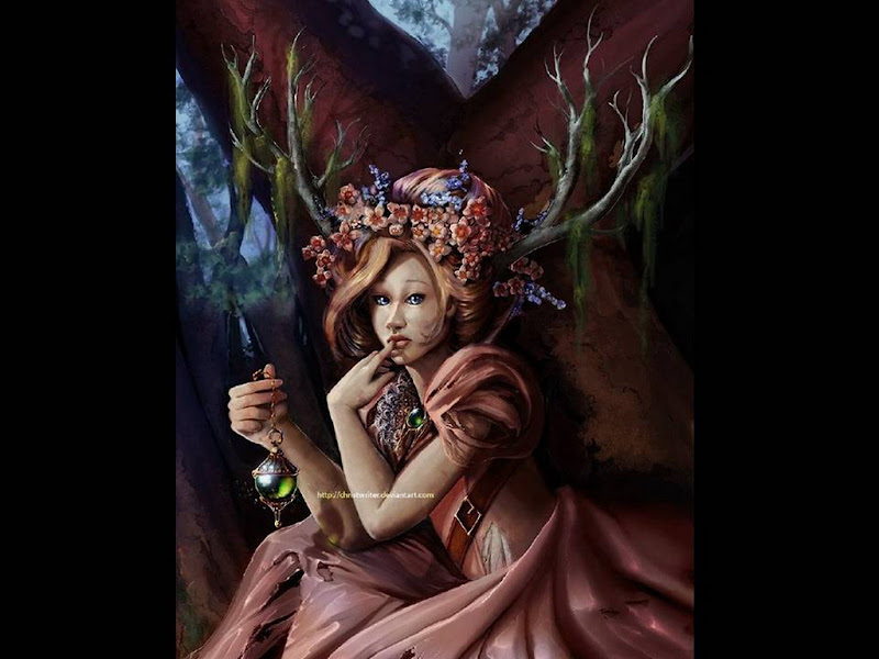 Sister Dryads Of Stone Forest, Green Witches