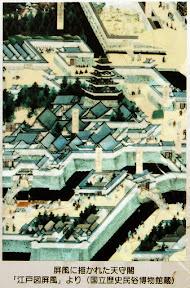 旧江戸城:屏風に描かれた天守閣