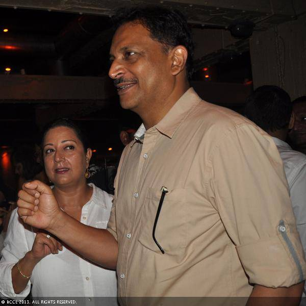 Neelam and Rajiv Pratap Rudy during Vani Tripathi's birthday bash, held in Delhi.