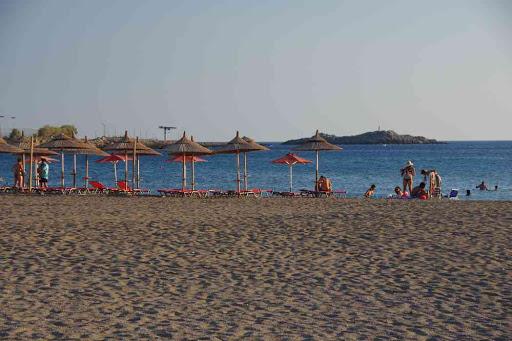 La plage de Paleochora (Παλαιοχώρα).